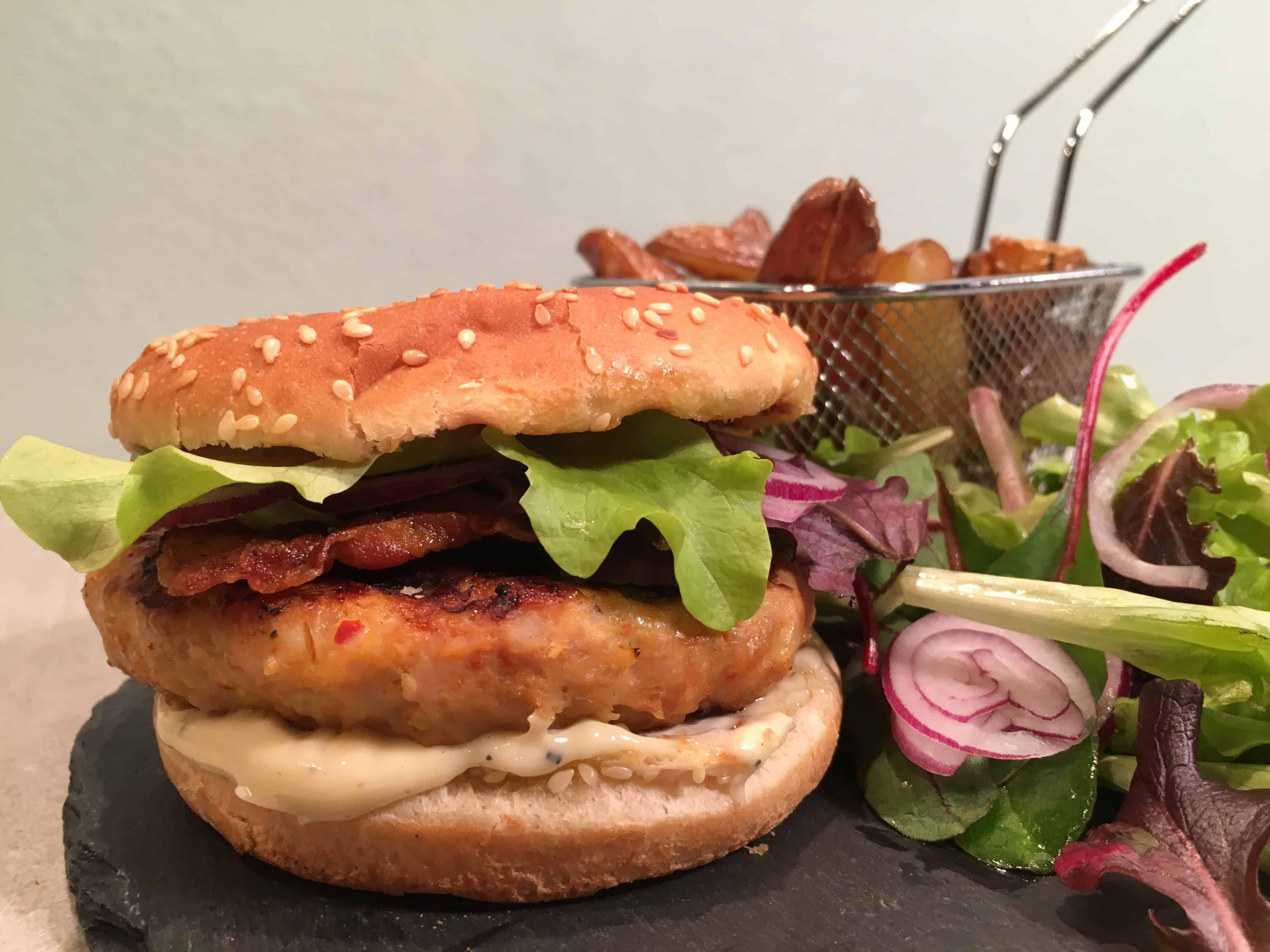 grillburgers met truffelmayonaise