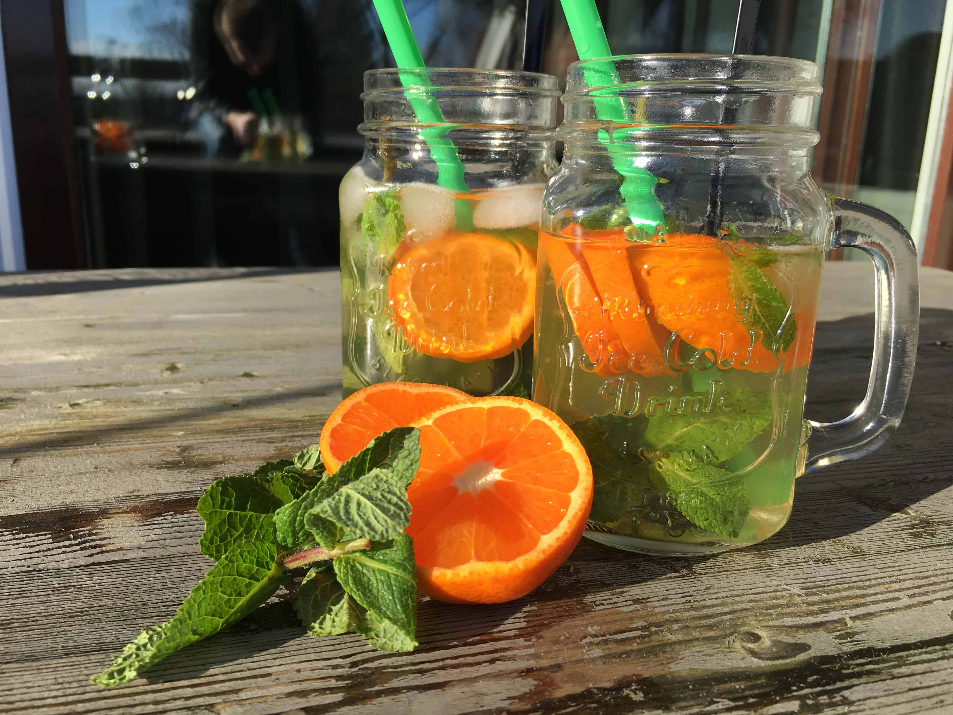 homemade ice tea green
