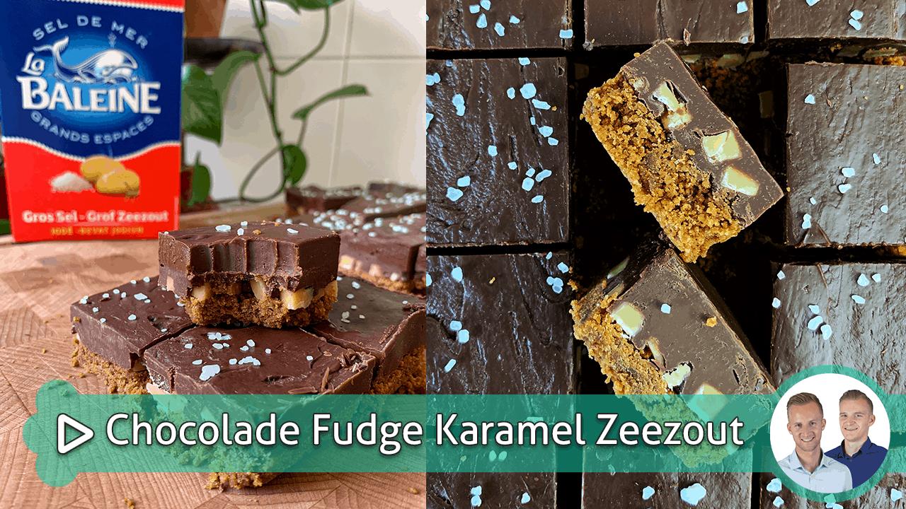 Chocolade Fudge Karamel Zeezout